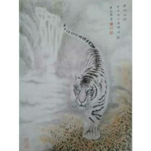 黄治龙国画作品《【君临山野】作者黄治龙》价格2400.00元