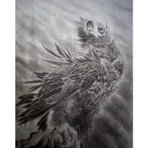 黄治龙国画作品《【仰望】作者黄治龙》价格12000.00元