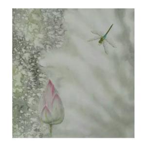 赵志民国画作品《【荷尖蜻蜓二】作者赵志民》价格3600.00元
