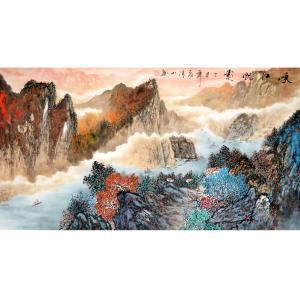 李清山国画作品《【峡江风景】作者李清山》价格840.00元