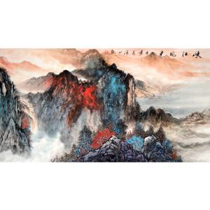 李清山国画作品《【峡江风光】作者李清山》价格400.00元