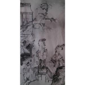 范云平国画作品《【人物5】作者范云平》价格480.00元