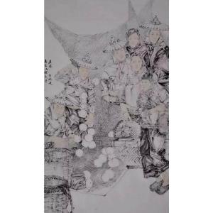 范云平国画作品《【人物6】作者范云平》价格4800.00元