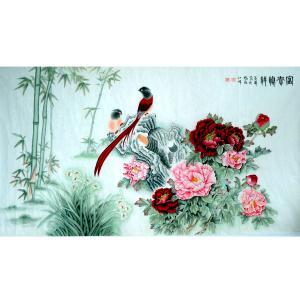 吕萍国画作品《【鸟语花香】作者吕萍》价格24000.00元