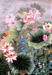 吕萍国画作品《【荷花】作者吕萍》价格24000.00元