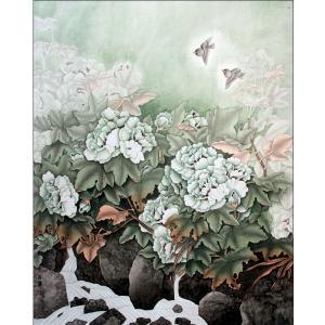 吕萍国画作品《【繁花似锦】作者吕萍》价格48000.00元