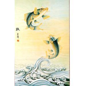 吕萍国画作品《【跃】作者吕萍》价格24000.00元