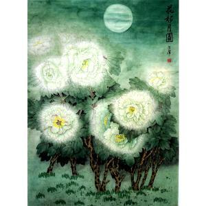 吕萍国画作品《【花好月圆】作者吕萍》价格48000.00元