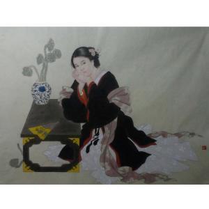 高隆正国画作品《【仕女】作者高隆正》价格4800.00元
