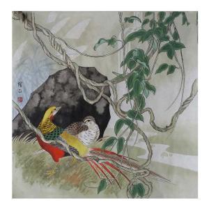 高隆正国画作品《【锦鸡】作者高隆正》价格2400.00元
