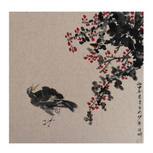 李昇国画作品《【花鸟20】作者李昇》价格720.00元