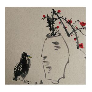 李昇国画作品《【花鸟24】作者李昇》价格720.00元