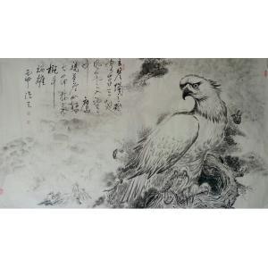 陈永刚国画作品《【高瞻远瞩】作者陈永刚》价格380880.00元