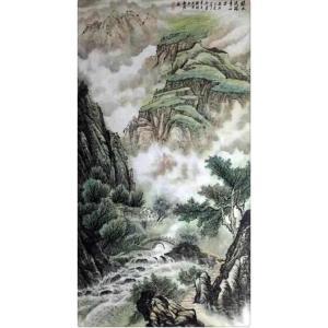 樊国平国画作品《【绿水流珠青山出】作者樊国平》价格36000.00元