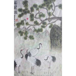 刘先锋国画作品《【白鹤】作者刘先锋》价格200.00元