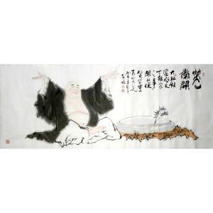 柳子峻国画作品-《【笑口常开】作者柳子峻》