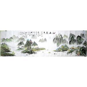 柳子峻国画作品-《【江南春色】作者柳子峻》
