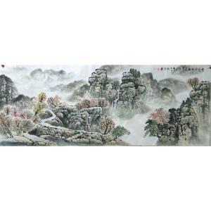 郭振治国画作品《【径通袅绕】作者郭振治》价格2640.00元