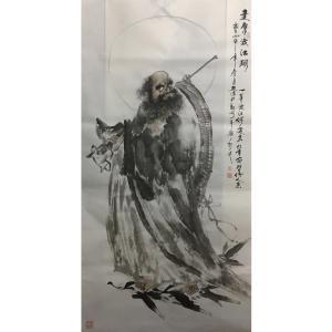 姜进清国画作品《【达摩渡江图】作者姜进清》价格1200.00元