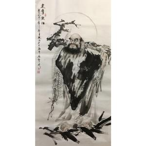 姜进清国画作品《【达摩渡江】作者姜进清》价格1200.00元