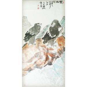 李沫池国画作品《【双栖图】作者李沫池》价格30000.00元