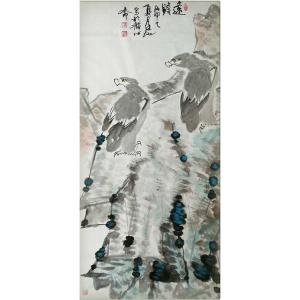 李沫池国画作品《【远瞻】作者李沫池》价格30000.00元