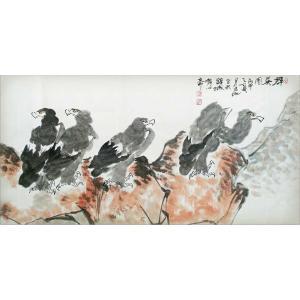 李沫池国画《【群英图】作者李沫池》