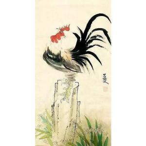 吕双国画作品《【金鸡报晓】作者吕双》价格7200.00元