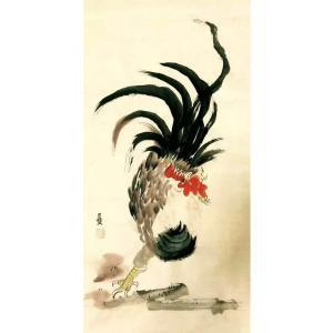 吕双国画作品《【雄风】作者吕双》价格7200.00元