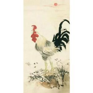 吕双国画作品《【报晓】作者吕双》价格7200.00元