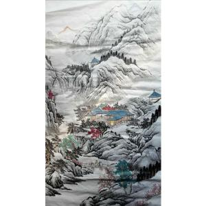 陈奇培国画作品《【山中藏景】作者陈奇培 临摹》价格1152.00元