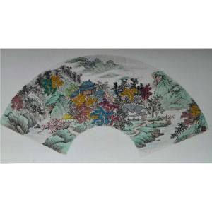 陈奇培国画作品《【扇面】作者陈奇培 临摹》价格672.00元