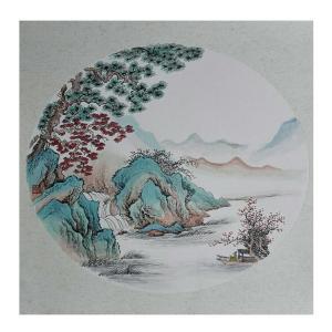 陈奇培国画作品《【圆形软卡】作者陈奇培 临摹》价格672.00元