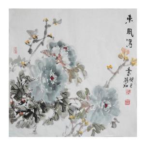 蒋红国画作品《【东风】作者蒋红》价格1200.00元