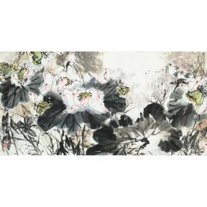 蒋红国画作品《【荷塘小景】作者蒋红》价格2640.00元