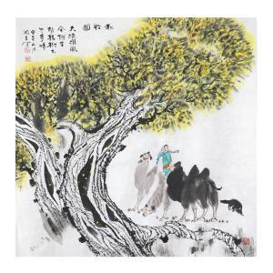 周全国画作品《【秋牧】作者周全》价格57600.00元