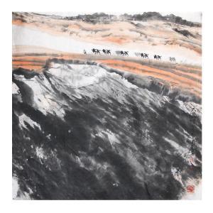 周全国画作品《【大漠】作者周全》价格28800.00元
