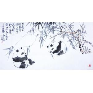 高瑞国画作品《【熊猫9】作者高瑞》价格3840.00元