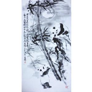 高瑞国画作品《【熊猫10】作者高瑞》价格3840.00元