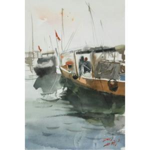 王涛油画作品《【码头】作者王涛》价格360.00元