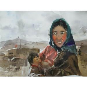 王涛油画作品《【母爱】作者王涛》价格720.00元
