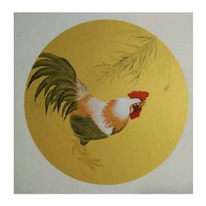 徐水英国画作品《【鸡】作者徐水英》价格3120.00元