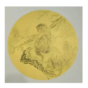 徐水英国画作品《【猴】作者徐水英》价格3120.00元