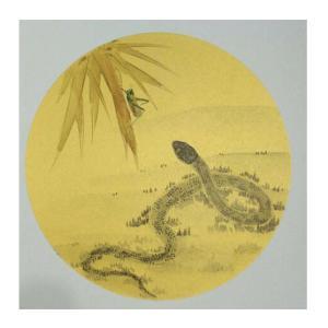 徐水英国画作品《【蛇】作者徐水英》价格3120.00元