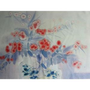 周俊峰国画作品《【瓶花1】作者周俊峰》价格480.00元