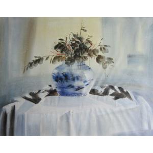 周俊峰国画作品《【瓶花6】作者周俊峰》价格480.00元