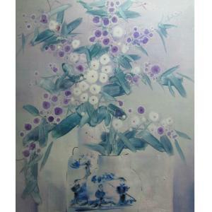 周俊峰国画作品《【瓶花8】作者周俊峰》价格960.00元