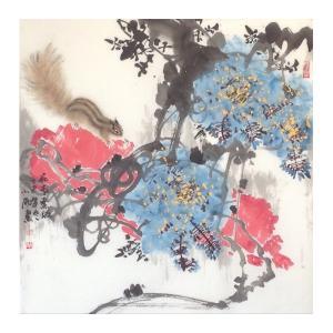 周小雨国画作品《【花雨】作者周小雨》价格960.00元