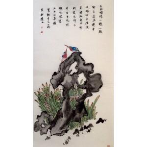 周小雨国画作品《【喜鹊临门】作者周小雨》价格1920.00元