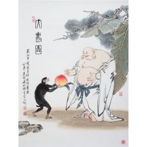 窦世魁国画作品《【神猿献桃】作者窦世魁》价格80000.00元